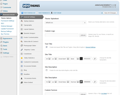 WOOTHEMES CONTROL PANEL