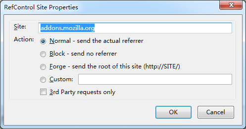 block referer in Firefox