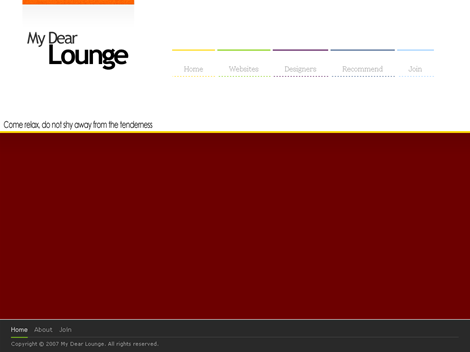 My Dear Lounge, the free web template!