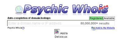 psychicwhois: domain availability checker