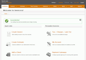 Invoicera control panel