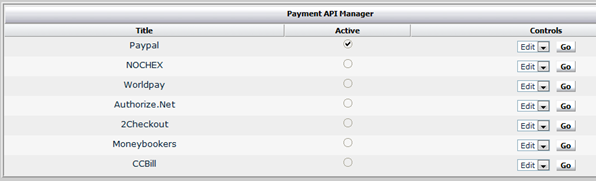 paid subscription payment API